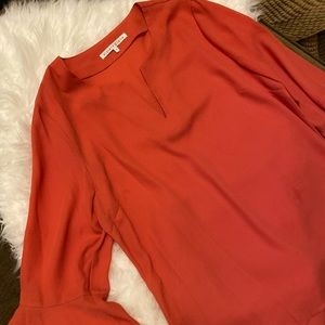 Coral blouse NWOT